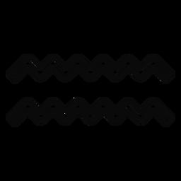 N gota de agua ola par simetría trazo