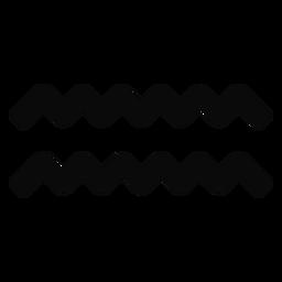 N onda de agua gota par simetría silueta