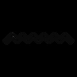 Curso da gota da onda de água de N