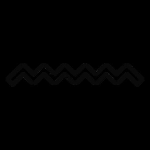 N water wave drop stroke Transparent PNG