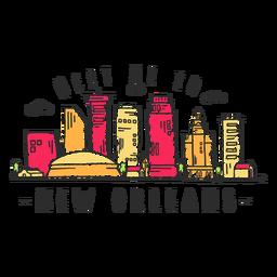 Adesivo de skyline de Nova Orleans