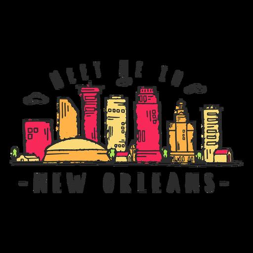 New orleans skyline sticker