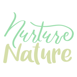 Nurture nature badge sticker