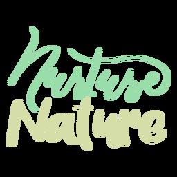 Nutrir la etiqueta de la insignia de la naturaleza