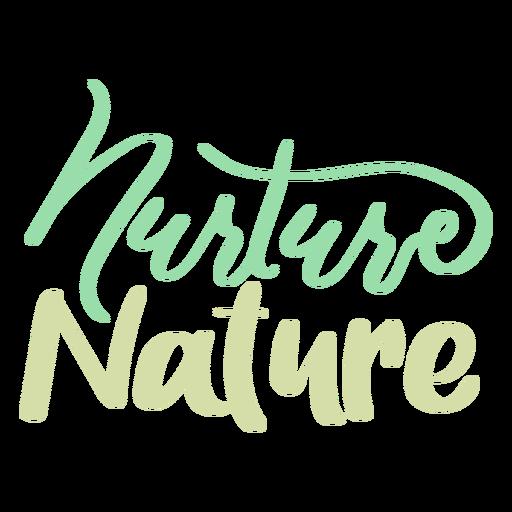 Nurture nature badge sticker Transparent PNG
