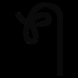 O u knot branch lasso trunk silhouette