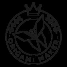 Origami Hersteller Papier Krone Abzeichen Linie