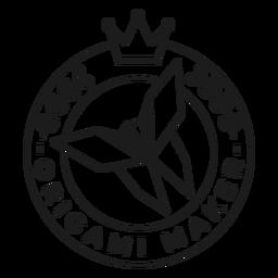 Origami Hersteller Papier Krone Abzeichen Schlaganfall