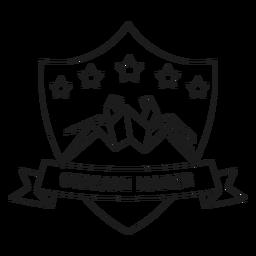 Origami fabricante araña estrella papel línea insignia