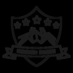 Fabricante de origami araña estrella papel trazo insignia