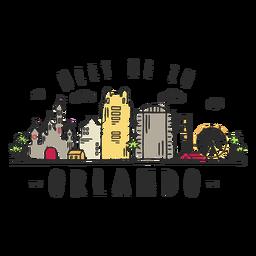 Pegatina del horizonte de Orlando