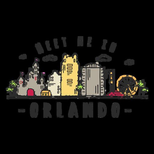 Orlando skyline sticker Transparent PNG