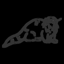Otter muzzle fur tail doodle