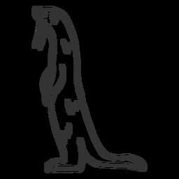 Doodle de piel de la cola del hocico de la nutria