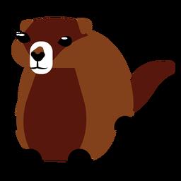 Focinho de pele de cauda de lontra arredondado