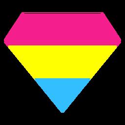Pansexual brillante raya diamante plana