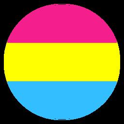 Pansexual círculo raya plana
