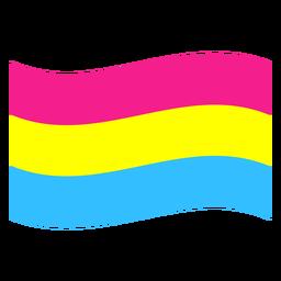 Pansexual bandera raya plana