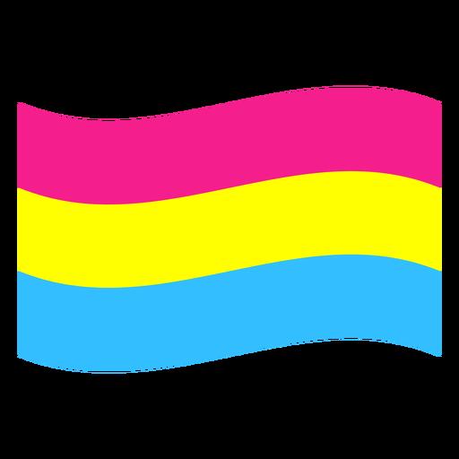 Pansexual flag stripe flat