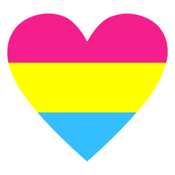 Pansexual heart stripe flat