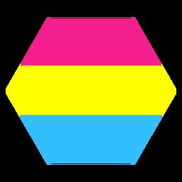 Pansexuelle Sechseck Streifen flach