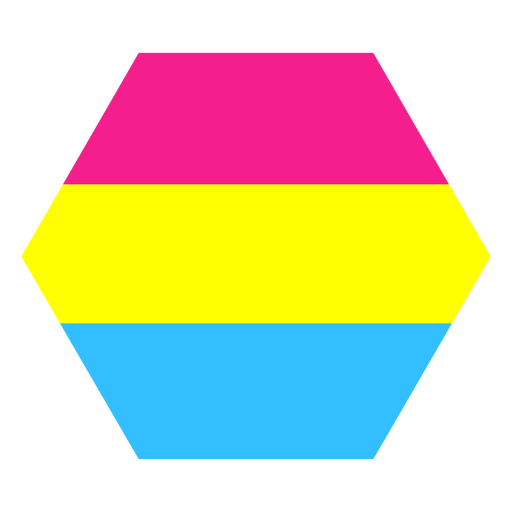 Pansexuelle Sechseck Streifen flach Transparent PNG