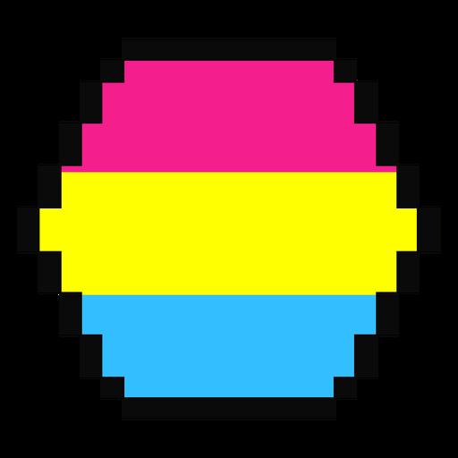 Pansexual hexagon stripe pixel flat Transparent PNG