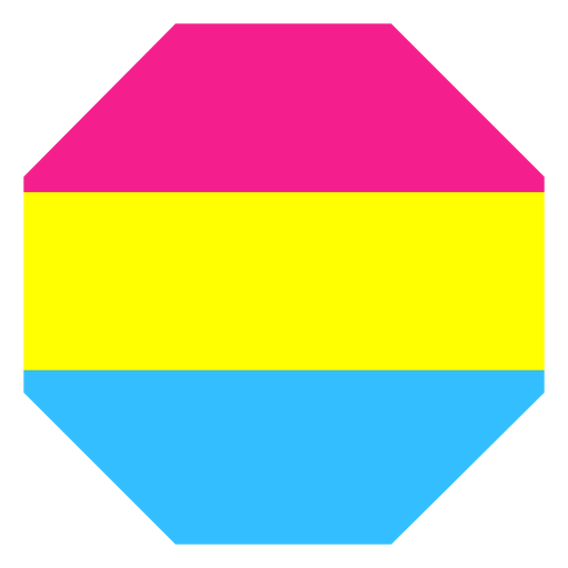 Pansexual octagon stripe flat Transparent PNG