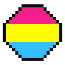 Pansexual octagon stripe pixel flat