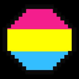 Pansexual octogonal raya pixel plana