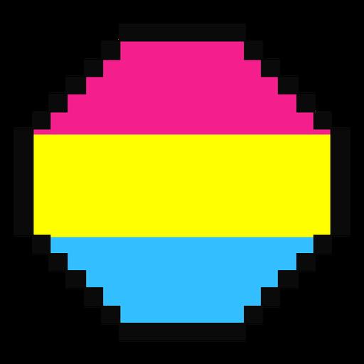 Pansexual octagon stripe pixel flat Transparent PNG