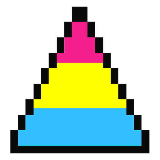 Pansexual triangle stripe pixel flat Transparent PNG