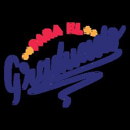 Para el graduado star sticker