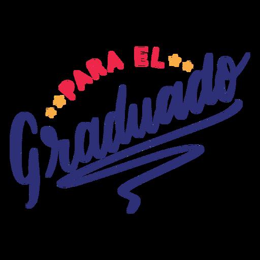 Para el graduado star sticker Transparent PNG
