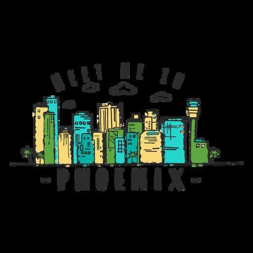 Phoenix skyline sticker Transparent PNG