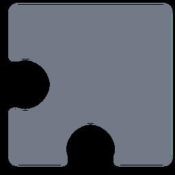 Silhueta de quebra-cabeça de detalhe de peça