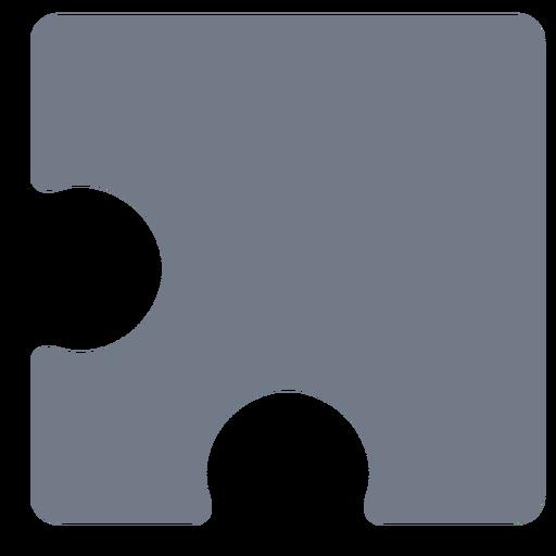 Piece detail puzzle silhouette Transparent PNG