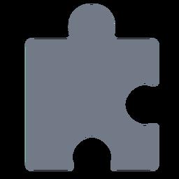 Silhueta de detalhe de quebra-cabeça de peça