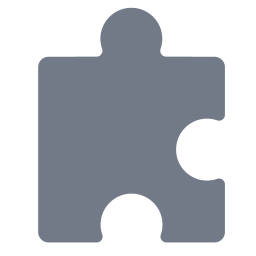Piece puzzle detail silhouette Transparent PNG