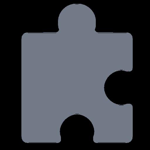 Piece puzzle detail silhouette
