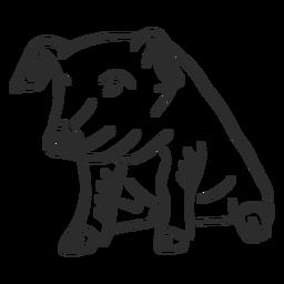 Pig ear snout hoof doodle
