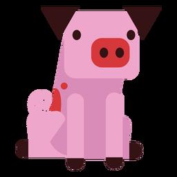 Oreja de cerdo hocico pezuña redondeada plana