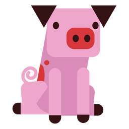 Orelha de porco casco de focinho arredondado