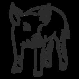 Pig snout ear hoof doodle
