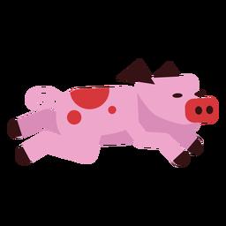 Ojo de hocico de cerdo con oreja redondeada