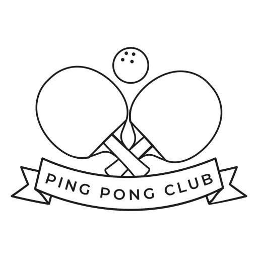 Club de ping pong pelota de tenis raqueta insignia golpe Transparent PNG