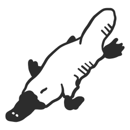 Doodle de boca de pico de ornitorrinco boca hocico doodle