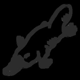 Platypus duckbill beak tail muzzle doodle