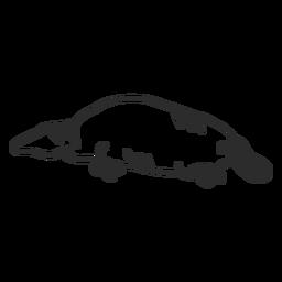Platypus tail duckbill muzzle beak doodle