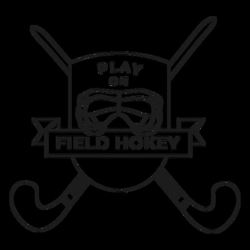 Play on field hockey stick helmet badge stroke Transparent PNG